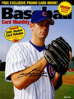 Mark Prior autographed Chicago Cubs Beckett Baseball magazine cover