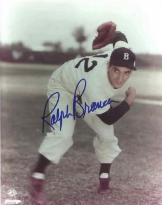 Ralph Branca autographed 8x10 Brooklyn Dodgers photo