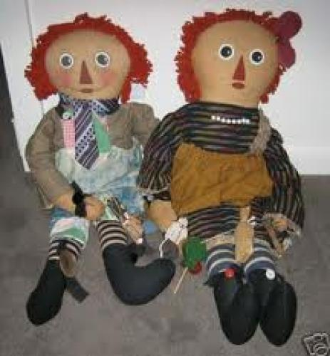 Raggedy Ann & Andy dolls; Old Toys