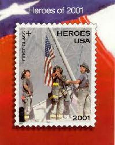 "Stamps; In memory of; PARTICIPATES in ""WORLD TRADE CENTER"