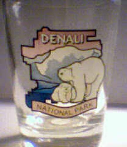 Shot Glass Denali Alaska