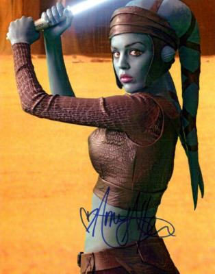 Amy Allen autographed Star Wars Aayla Secura 8x10 photo