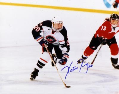 Katie King autographed 1998 USA Hockey 8x10 photo