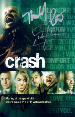 Don Cheadle William Fichtner Michael Pena autographed Crash DVD insert