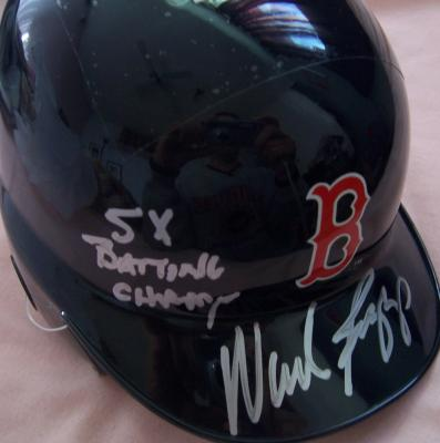 Wade Boggs autographed Boston Red Sox mini helmet inscribed 5X Batting Champ