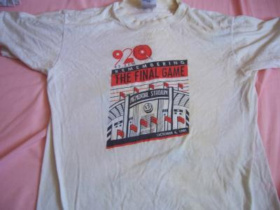 1991 Baltimore Orioles Memorial Stadium Final Game T-shirt