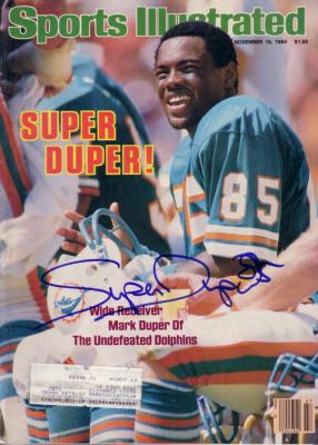 Mark (Super) Duper autographed Miami Dolphins 1984 Sports Illustrated