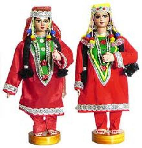 Kashmiri Costume Dolls - Cloth