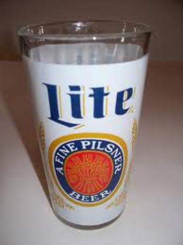 Breweriana; VINTAGE 10 OZ MILLER LITE BEER GLASS