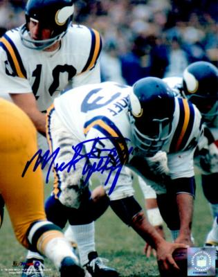 Mick Tingelhoff autographed 8x10 Minnesota Vikings photo