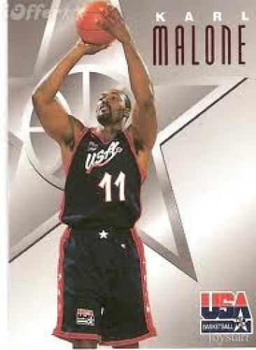 Basketball Card; 1996 SkyBox USA Texaco #4 Karl Malone