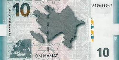 Banknotes; Azerbaijan; 10‑Mana; Year Issue:‑2005
