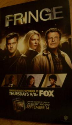 Fringe 2010 Comic-Con WB promo poster Joshua Jackson John Noble Anna Torv