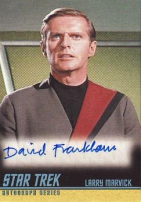 David Frankham Star Trek certified autograph card
