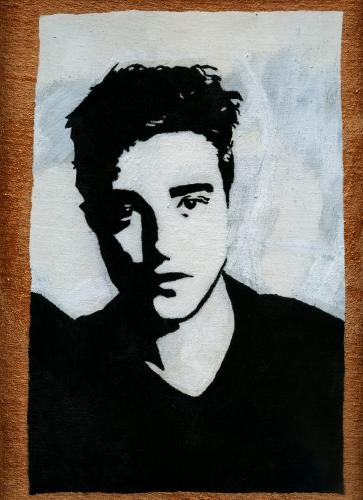 Robert Pattinson pop art hand made painting