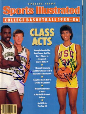 Cheryl Miller & Mark Price autographed 1985 Sports Illustrated