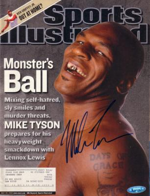 Mike Tyson autographed 2002 Sports Illustrated