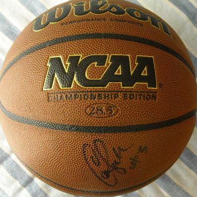Candace Parker (Tennessee) autographed Wilson NCAA basketball