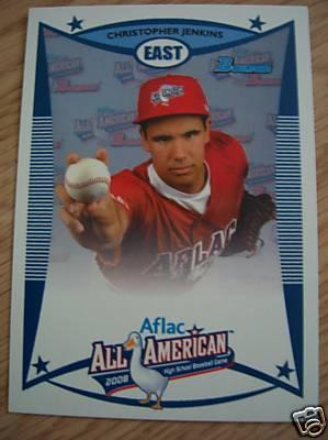 Chris Jenkins 2008 AFLAC Bowman Rookie Card