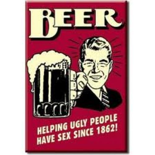 Beer Humor Fridge Magnet