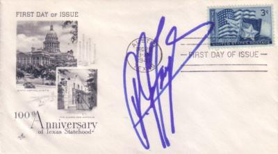 A.J. Foyt autographed Texas Statehood 100th Anniversary First Day Cover