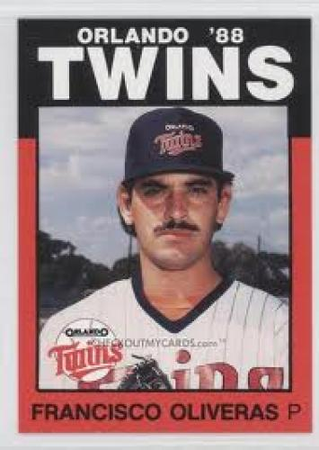 1988 Orlando Twins Best Baseball Cards; Francisco Olivares
