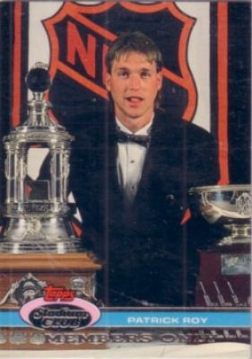 Patrick Roy 1992 Stadium Club Members Only card