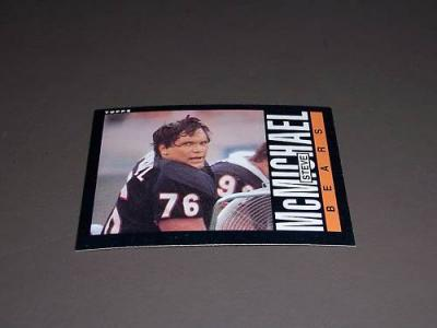 Steve McMichael Bears 1985 Topps Rookie Card #32