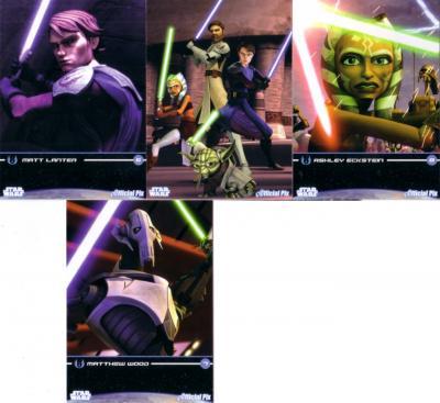 Star Wars Clone Wars 2009 promo card set (4)
