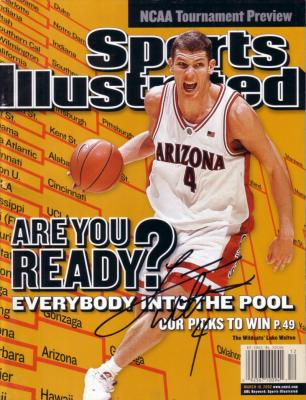 Luke Walton autographed Arizona 2002 Sports Illustrated