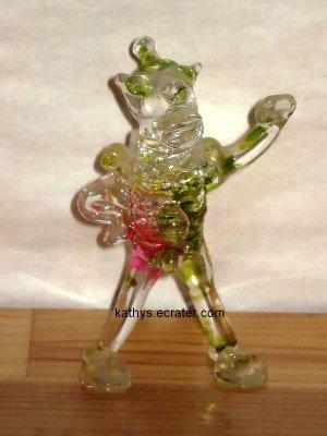 People: Hand Blown Color Glass Standing Circus Clown Figurine