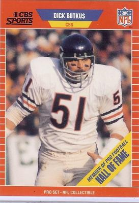 Dick Butkus 1989 Pro Set Announcers card