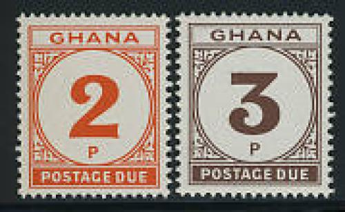 Postage due 2v; Year: 1980