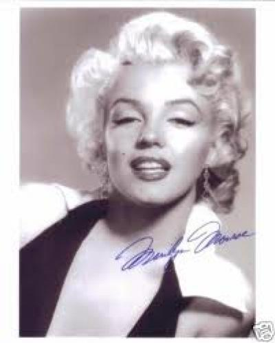 MARILYN MONROE SIGNED AUTOGRAPHED