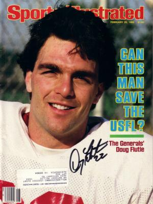 Doug Flutie autographed 1985 USFL Sports Illustrated