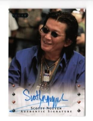 Scotty Nguyen certified autograph Razor poker card