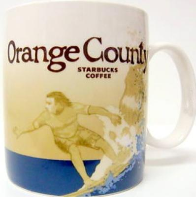 2009 Starbucks huge Orange County collector series 16 ounce coffee mug NEW