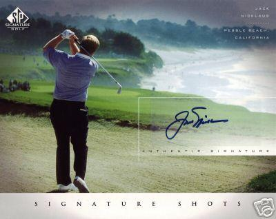 Jack Nicklaus certified autograph 2004 SP Signature Golf 8x10 photo card
