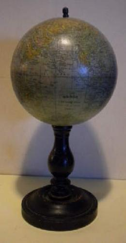 Antiques Globe; exceptional small globe. only 30cm