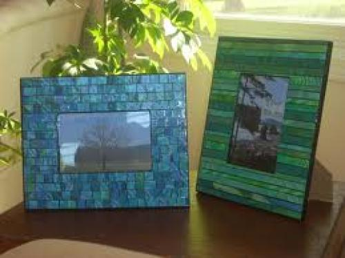 Crafts; Paper mosaic picture frames and mirrors