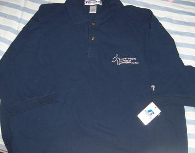 Women's Sports Foundation navy blue golf or polo shirt XL NEW