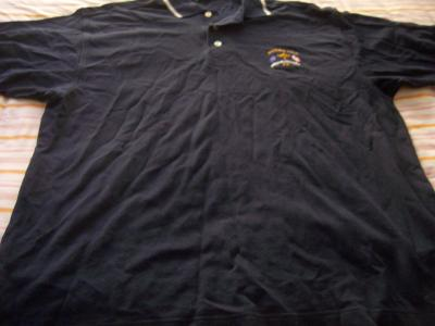 2002 Ryder Cup Cutter &amp; Buck black golf shirt MEDIUM NEW