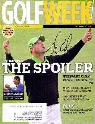 Stewart Cink autographed 2009 British Open Golf Week magazine