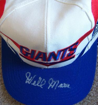 Wellington Mara autographed New York Giants cap