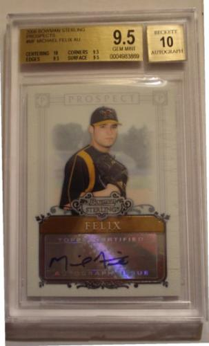 Michael Felix Bowman Sterling Prospects Autographed Graded 9.5