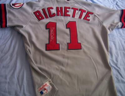 Dante Bichette autographed 1988 Angels rookie season game worn Rawlings jersey