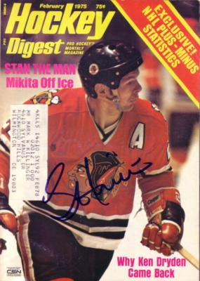 Stan Mikita autographed Chicago Blackhawks 1975 Hockey Digest