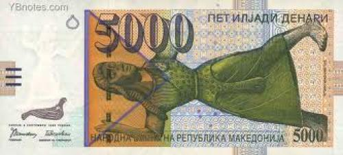 Banknotes; Macedonia Banknotes 5000 Denari ; Year: 1996