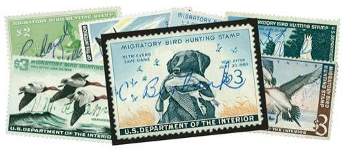 Duck Hunting Stamps, set 10 Used