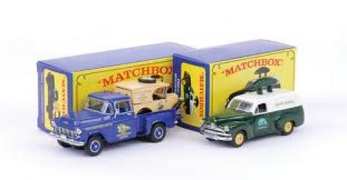 """Van; Models of Yesteryear - Holden FJ Van """"MCCD 2000"""" - green, white"""